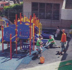 IPR Hawaii Playground with Workers