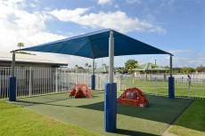 Recently completed playground with shade by IPR Hawaii.
