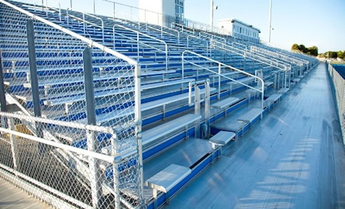 GT Grandstands offers bleachers, team benches, press boxes and other sports seating.