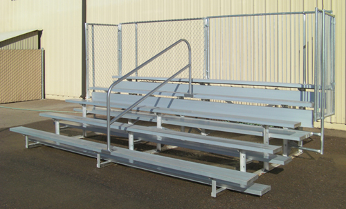 PW outdoor bleachers are made from high quality materials and durable construction.