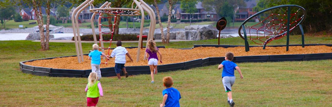 PlayTrails is designed for installation as pockets of play along a path or trail.