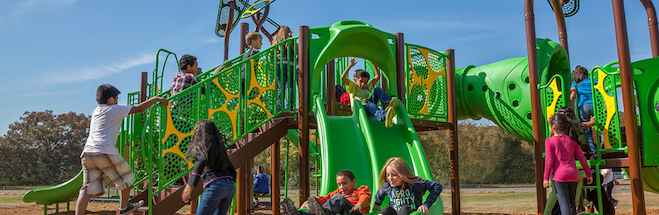 PowerScape playgrounds accommodate your biggest crowd!