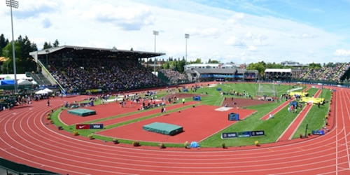 A track and field project can offer a surface for training and competition.