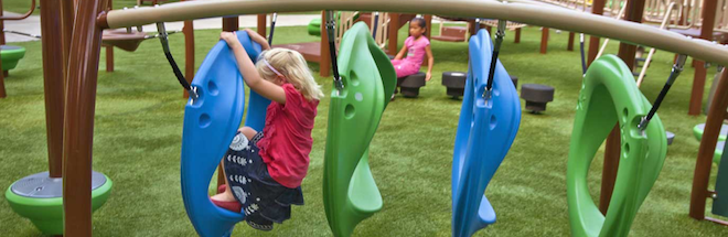 Xscape systems help children improve strength and health.