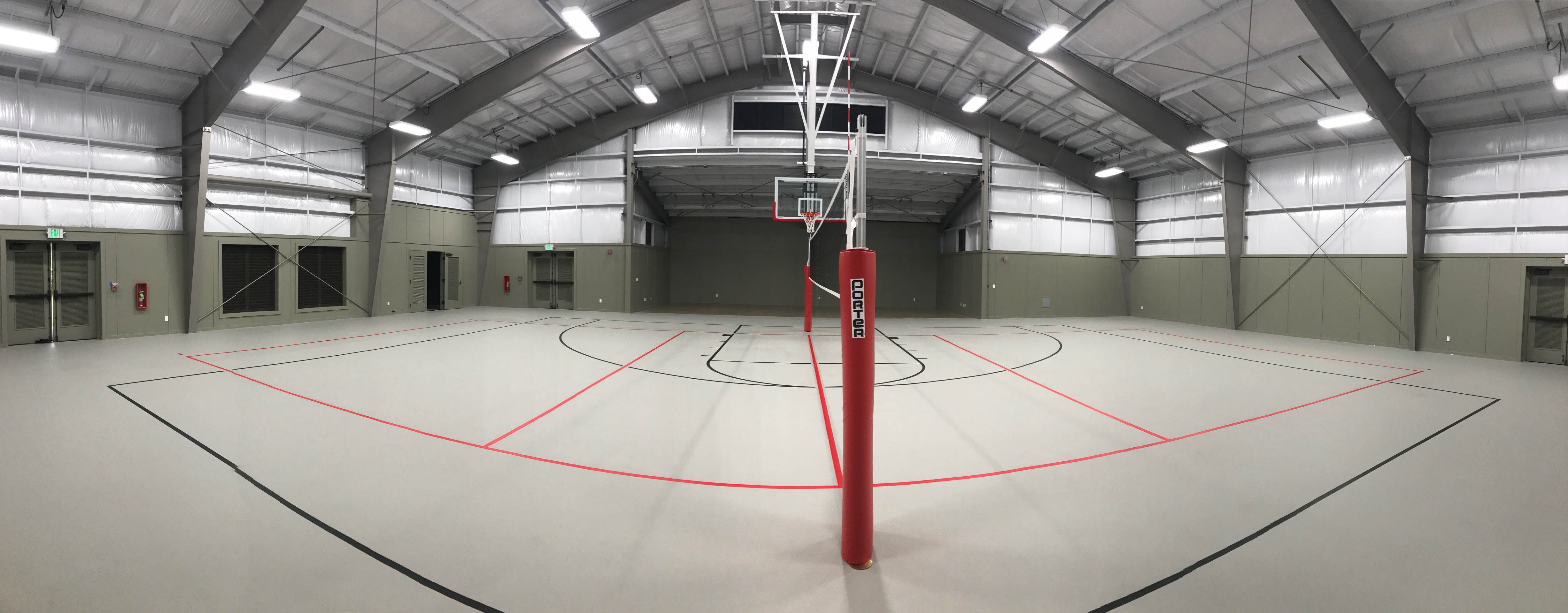 photo of Hawaii Pacific Academy polyurethane athletic flooring project.