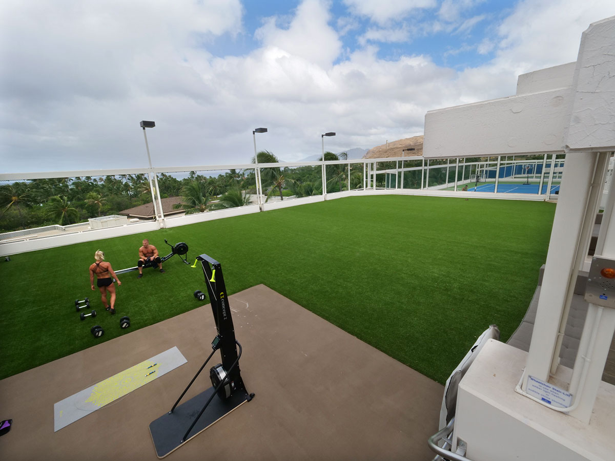 photo of four-seasons--synthetic-turf-fitness-deck-ipr-hawaii