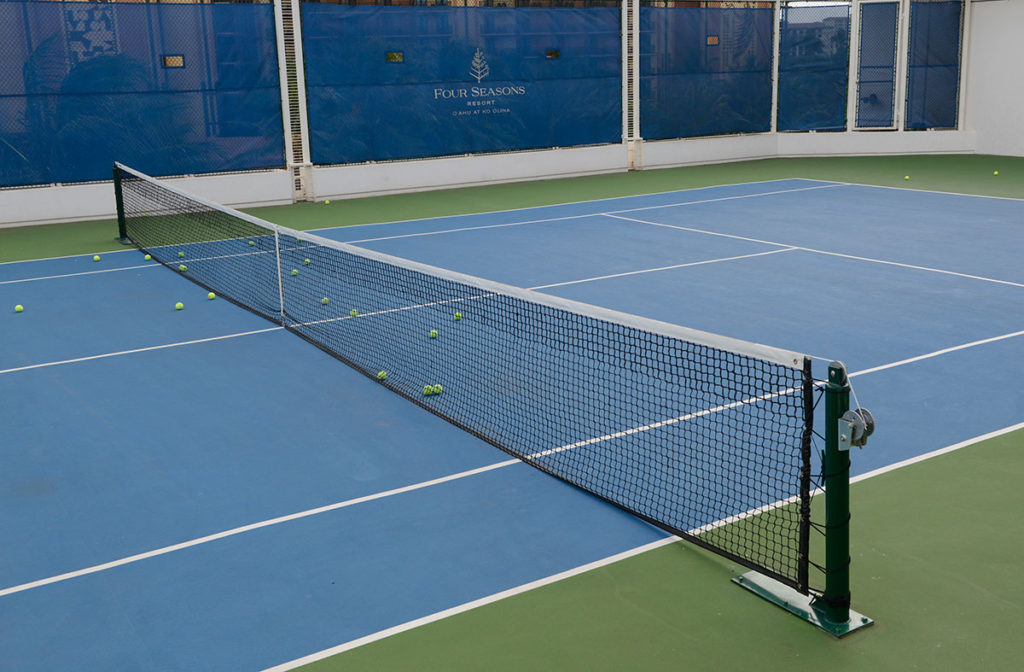 photo of four-seasons-tennis-net-system-ipr-hawaii